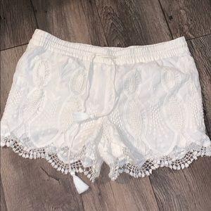 Loft Crochet Shorts
